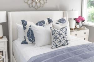 Queen Bed Pillow Arrangement Ideas