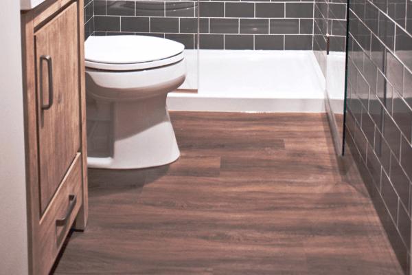 Vinyl Flooring in Bathroom
