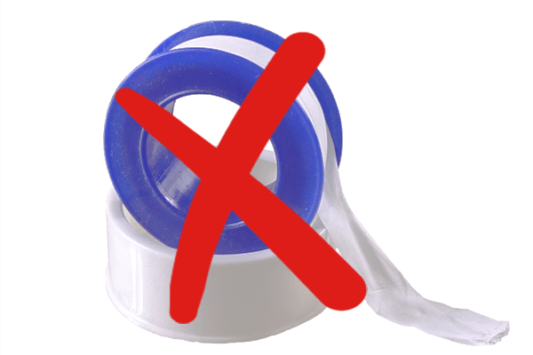 When Not to Use Teflon Tape